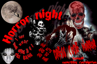 IMAGE horror party flyer